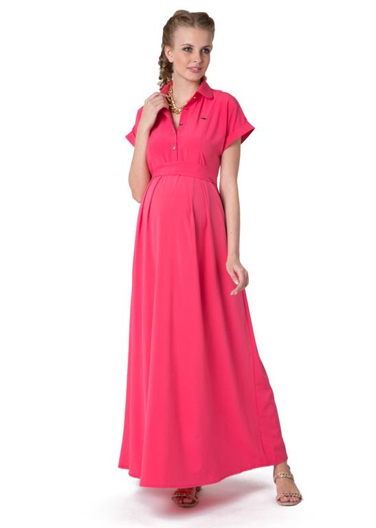 """Платье """"Аламанни"""" коралловое для беременных и кормящих ТМ """"I Love Mum"""""""